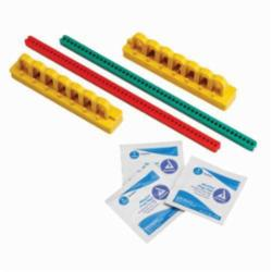 Brady® 90891 Lockout Kit, Suitable For Use With Single and Multipole Breakers, 7 Piece, Red/Green/Yellow, Plastic