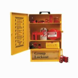 Brady® 99709 Combined Lockout and Lock Box Station, Filled, 16 in Cabinet, 6 in Lock Box H, 30 Piece, 6 Padlocks, Metal