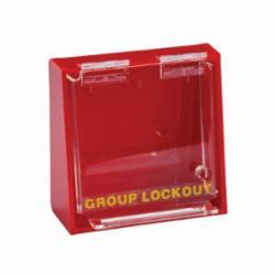 Brady® Prinzing® LG008E Group Lockout Box, 10 Padlocks, 7-1/2 in H x 12 in W x 2-1/2 in D, Red