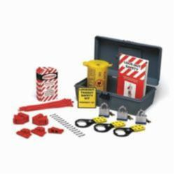 Brady® LKX Prinzing® Filled Portable Economy Lockout Kit, Suitable For Use With Electrical Lockout, 47 Piece, Gray