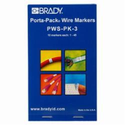 BRADY PWS-PK-3 1-THRU-45 MRKR 450PK