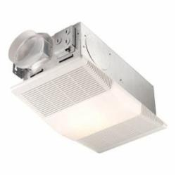 BROAN 665RP 70 CFM, 4.0 Sones, Exhaust fan with 1300W heater and 100W incandescent light (bulb not included).