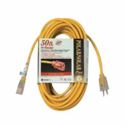 COL 01688-00-02 12/3 50FT YELLOW EXTENSION CORD W/ LIGHTED ENDS