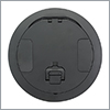 HUBW CFBS1R8CVRBLK CFB ROUND 8 INCH COVER, BLACK