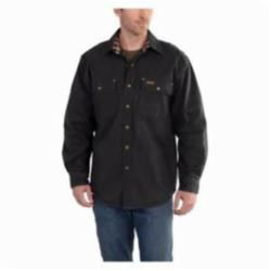CAR 100590-001-L WEATHERED CANVAS SHIRT JAC BLACK