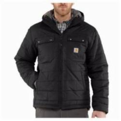 CAR 100727-001-M Brookville Quilted Nylon Jacket Black Medium