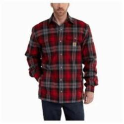 CAR 101752-608-L HUBBARD SHERPA-LINED SHIRT JACKET DARK CRIMSON