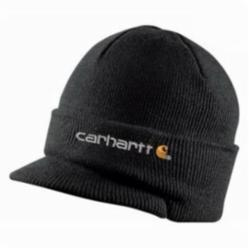 CAR A164BLK VISOR KNIT WATCH HAT BLACK