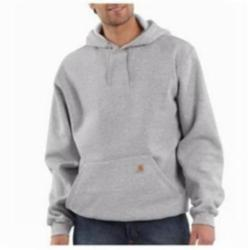 CAR K121HGY-XL MIDWEIGHT HOODED PULLOVER SWEATSHIRT