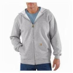 CAR K122HGY-XL HOODED ZIP-FRONT SWEATSHIRT