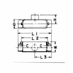 CARLON E983E 3/4 T PVC COND BODY