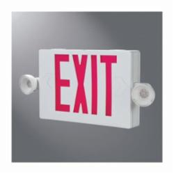 SURELITE APCH7R COMBO REMOTE CAPABLE EXIT SIGN WITH RED LETTER