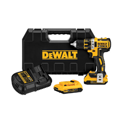 DeWALT® DCD790D2 Brushless Compact Cordless Drill/Driver Kit, 1/2 in, 20 VDC, Lithium-Ion/Integrated Battery