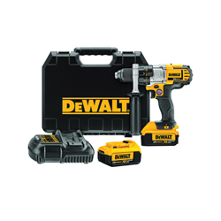 DeWALT® DCD980M2 3-Speed Premium Cordless Drill/Driver Kit, 1/2 in, 20 VDC, Lithium-Ion/Integrated Battery