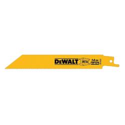 DeWalt Reciprocating Saw Blade,DeWALT,8 IN LEN,18 TPI,PKG: 5,BLD Type: STR BCK