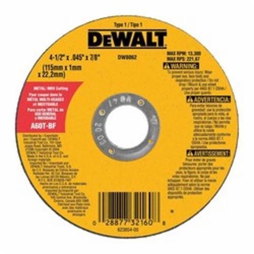 DEWALT DW8062 CUTTING WHEEL 4-1/2