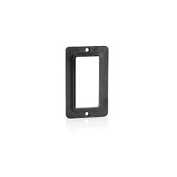 Decora® 3060-E 1-Gang Standard Cover Plate, For Use With GFCI/Decora® Receptacle, Polycarbonate, Black