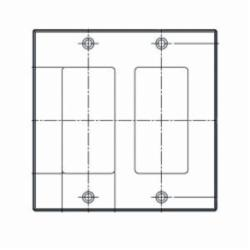 LEV 80409-T 2G ALM WALL PLATE