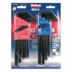 10222 22PC INCH & METRIC HEX L KEY SET - EKLIND