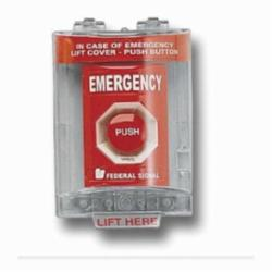 PULL STATION COVER EMERGENCY RED