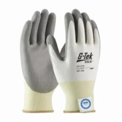 PIPR 19-D310/M G-TEK 3GX DSM DYNEEMA WHITE KNIT W\ GREY POLYURETHANE PALM COATING MEDIUM WEIGHT EN388 LEVEL 4