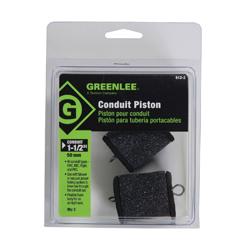 Greenlee® 612-2 Flexible Conduit Piston, 1-1/2 in EMT/IMC/Rigid Conduit, Foam, Green