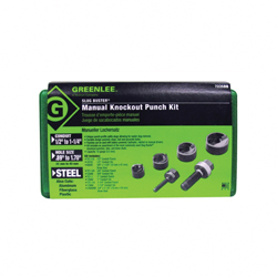 Greenlee® Slug-Buster® 7235BB Manual Punch and Die Set, 10 ga, For Use With Manual Ratchet and Driver, Mild Steel