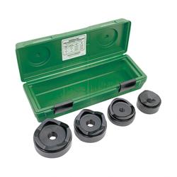 Greenlee® Slug-Buster® 7304 Manual Knockout Punch-Die Kit, 10 ga, 2-1/2 to 4 in Conduit/Pipe, Mild Steel