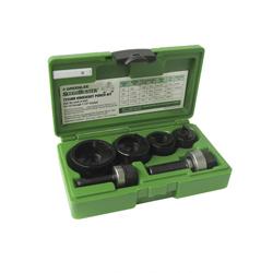 Greenlee® Slug-Buster® 735BB Manual Round Knockout Punch-Die Kit, 10 ga, 1/2 to 1-1/4 in Conduit/Pipe, Mild Steel