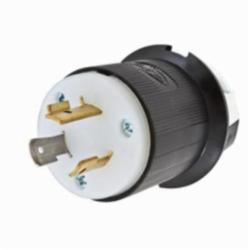 Hubbell® Twist-Lock® Insulgrip® HBL2331 Grounding Locking Plug, 277 VAC, 20 A, 2 Poles, 3 Wires, Black/White