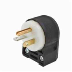 Hubbell Wiring Device-Kellems PLUG ANGLE, 20A 125V, 5-20P, B/W