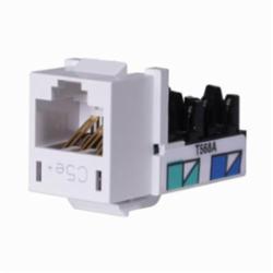 Hubbell Wiring Device-Kellems JACK, HXJ,CAT5E,8POS,UNI A/B,WH