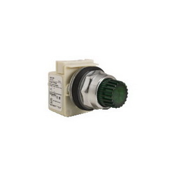 Schneider Electric 9001K2L1G PUSHBUTTON OPERATOR 30MM TYPE K +OPTIONS,30mm Round,600V,Green,K,NEMA 1/2/3/3R/4/6/12/13,No Contact Blocks,Panel,Pushbutton,Standard Pushbutton,UL File Number E42259 CCN NKCR - CSA File Number LR24590 Class 3211-03 - CE Marked,Water tight, Dust tight and Oil tight (Indoor/Outdoor),chromium plated metal,unmarked,illuminated push-button,momentary
