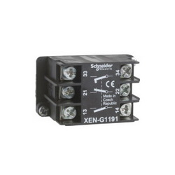 Schneider Electric XENG1191 PENDANT STATION CONTACT 240VAC 3A XE,1 NC + 2 NO,10 A,Contact Block,EN/IEC, UL, CSA,Harmony,Harmony XAC,front mounting,screw clamp terminals