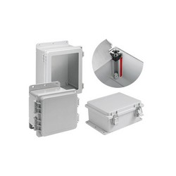 Hoffman A14128PHC POLYPRO™ PCR Lightweight Wall Mount Enclosure, 14.02 in L x 12.01 in W x 8.35 in D, NEMA 4X/IP66, Polyester