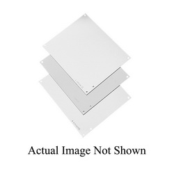 Hoffman A24P24 Enclosure Panel, 21 in W x 21 in H, Steel, White
