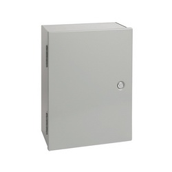 Hoffman A16N16ALP Medium Single Door Wall Mount Enclosure, 16 in L x 16 in W x 6.62 in D, NEMA 1/IP30, Steel