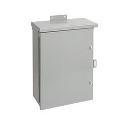 Hoffman A24R2410HCR Medium Single Door Wall Mount Enclosure, 24 in L x 24 in W x 10 in D, NEMA 3R/IP32, Steel