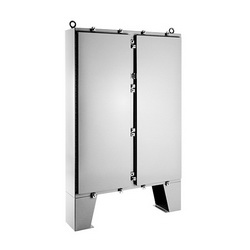 Hoffman A62H48CLP Large Two-Door Electrical Enclosure With Floor Stand, 62.06 in L x 48.06 in W x 10.06 in D, Steel