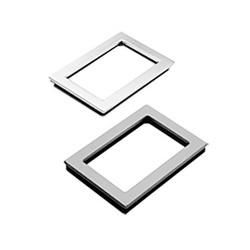 Hoffman APWK95NFSS A80SW/A80W Window Kit, 9 in H x 5-1/2 in W Window, 10.69 in H x 7.19 in W Cutout, 11.5 in H x 8 in W x 0.31 in D