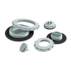 Hoffman ASPB05075NM Non-Metallic Enclosure Hole Seal, 5 in Conduit, 0.86 in Hole, For Use With Conduit Holes, Plastic