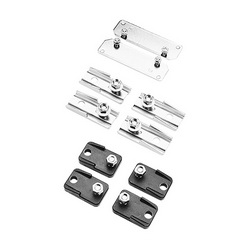 Hoffman DesignLine A80 Mounting Foot Kit, For Use With Type 1 Networking Wall Mount and COMLINE Enclosure, Raw