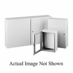 Hoffman CSD12126 Single Door Wall Mount Enclosure, 12 in L x 12 in W x 6 in D, NEMA 4/12/IP66, Steel
