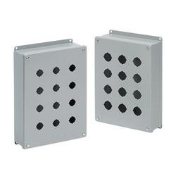 Hoffman E2PBG Pushbutton Enclosure, 5-3/4 in L x 3-1/4 in W x 2-3/4 in D, NEMA 12/IP65 NEMA, Steel