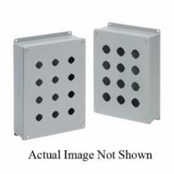 Hoffman E1PB Pushbutton Enclosure, 3-1/2 in L x 3-1/4 in W x 2-3/4 in D, NEMA 12/IP65 NEMA, Steel