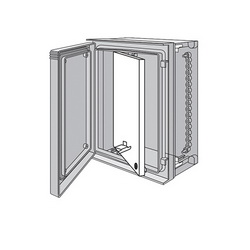 Hoffman UU5040SP Swing Out Panel, For Use With 513 x 412 mm Enclosure, Steel