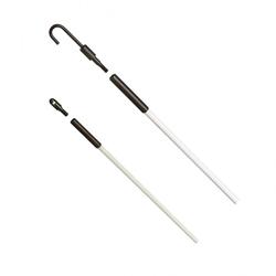 Fishing Pole Kit,Ideal,Tuff-Rod,Regular Flex,1/4 IN Diameter,12.000 FT LEN,WHT