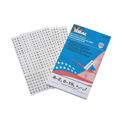 Ideal Industries 44-103 Pre-Printed Wire Marker Book, 1-1/2 in L x 1/4 in W, 1 - 45 Legend, Black Legend/Background