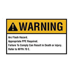 IDEAL 44-893 NEC ARC FLASH WARNING LBL 5X7