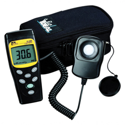 Ideal® 61-686 Digital Light Meter, Up to 200000 lux, +/-3%, LCD Display, 9 VDC NEDA 1604/IEC 6F22/JIS 006P Battery